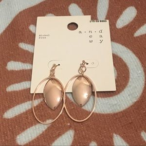 Rose Gold colored pierced earrings